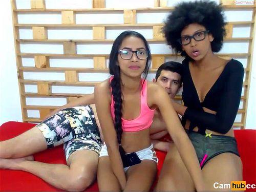 Colombian friends on webcam