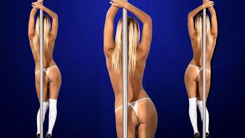 Kristina - Miss Behavin edit4k - Blonde, Istripper, Babe, Striptease Porn ▶11:29