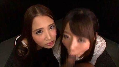 【鬼フェラ地獄】友田彩也香&初美沙希の美痴女コンビによるすごいフェラ!バキューム・ひょっとこあらゆるテクニックでしゃぶり尽くす♡