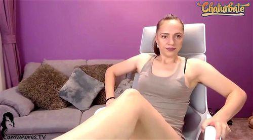 Romanian babe CorySweety teasing in bra and panties