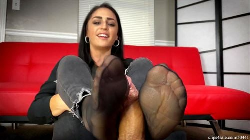 Nylon foot job