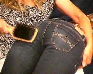 Jeans spanked Spanked Celebrities