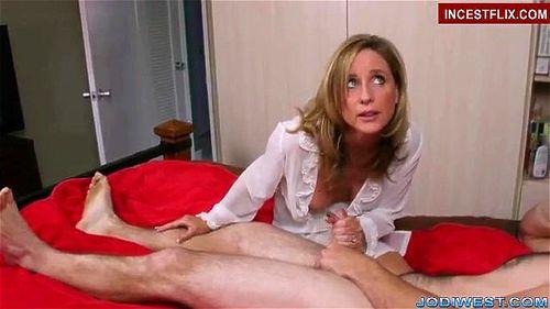 Mom Helps Son Jerk