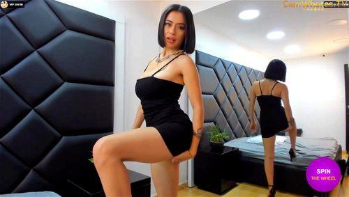 Busty brunette Alessandra Russo webcam tease