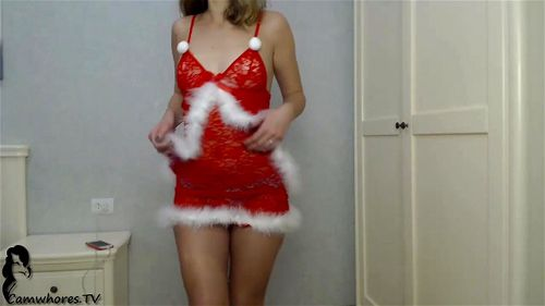 Young blonde Kimmione Xmas webcam show