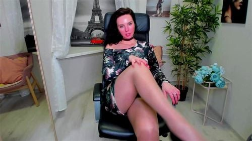 Beautiful Estonian brunette ViolaViolin teases in sexy dress 3/3
