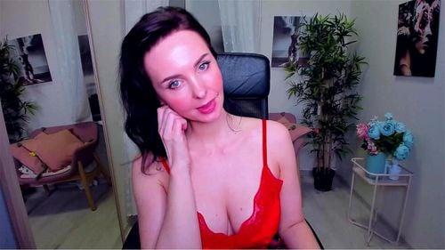 Estonian brunette ViolaViolin webcam tease 2/3