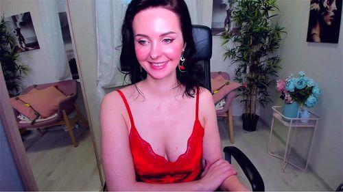 Estonian brunette ViolaViolin webcam tease 1/3