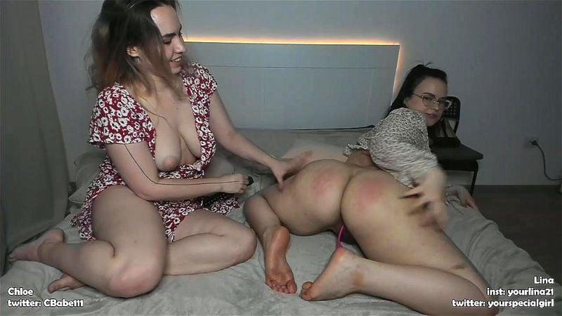 Russian models Chloebabe111 & YourLina webcam show 2/3