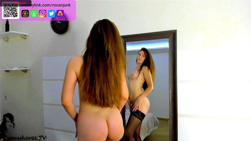 Amateur babe Opurel mirror show 1/2