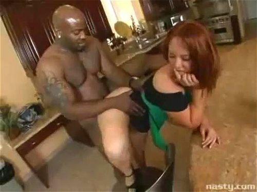 Ebony Babe Interracial Anal